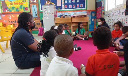Community Service Visit In Cradle-To-Crayon School